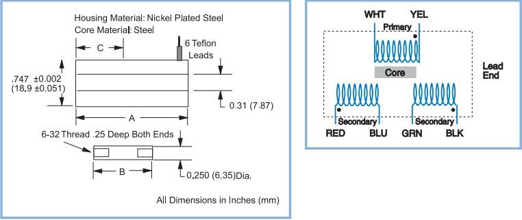 Trans-Tek Series 280 LVDTs位移传感器